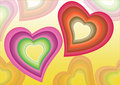 Free Colorful Hearts Background Stock Photography - 4430762