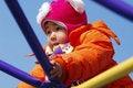 Free Girl Playing On Climbing Frame Royalty Free Stock Image - 4433586