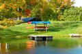 Free Canoes On The Lake Royalty Free Stock Images - 4437879