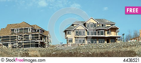 Free Homes Under Construction Stock Image - 4438521
