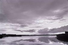 Sunset Above Lake Royalty Free Stock Photo