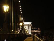 Chain Bridge Royalty Free Stock Photo