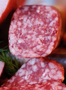 Smoked Sausage Royalty Free Stock Photography