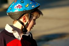 Free Boy With Cycling Helmet Stock Photos - 4431103