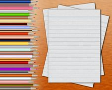 Free Pencils And Blank Pages Royalty Free Stock Images - 4431359