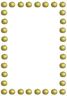Free Golden Apple Border Large Royalty Free Stock Photo - 4431555