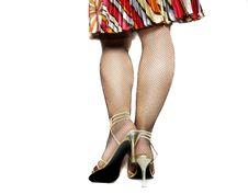 Free Female Legs In Black Stockings Royalty Free Stock Photos - 4431718