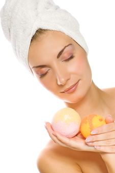 Free Woman With Aroma Bath Ball Stock Photo - 4431950