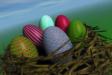 Free Painted Easter Eggs Royalty Free Stock Photo - 4432805