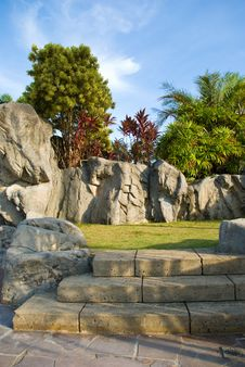 Ornamental Rocky Garden Stock Photos