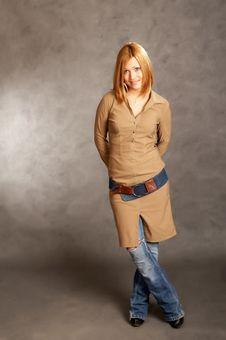 Free Glamor Girl Posing Stock Image - 4433291