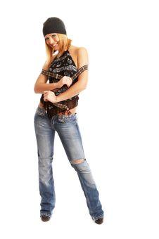 Free Glamor Girl Posing Stock Image - 4433431