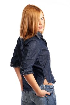 Free Glamor Girl Posing Stock Photo - 4433500