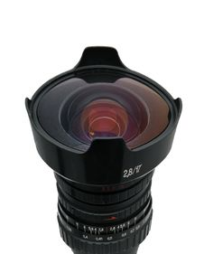 Fisheye Nice Lens Isolated Royalty Free Stock Images