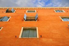 Free Orange Wall In Venice Stock Photo - 4434500