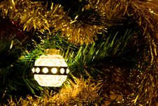 Vintage Christmas Light Stock Image