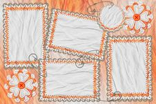 Free Textile Frame With Space For Your Text Or Image Royalty Free Stock Photos - 4434888