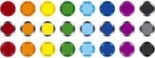 Free Color Buttons Royalty Free Stock Photography - 4435107