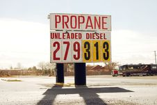 Free Fuel Prices Royalty Free Stock Photos - 4435208