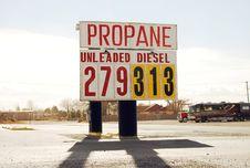 Fuel Prices Royalty Free Stock Photos