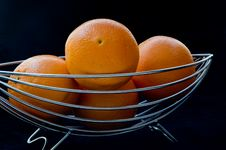 Free Basket Of Oranges Stock Photo - 4435350