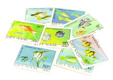 Free Vietnam Post Stamps Stock Photo - 4435580