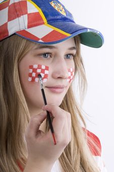 Free Croatia Fan Royalty Free Stock Photo - 4435625
