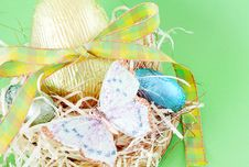 Free Colorful Wrapped Chocolate Easter Eggs Stock Image - 4435701