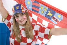 Free Croatia Fan Royalty Free Stock Photos - 4435788