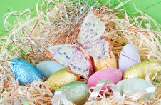 Free Colorful Wrapped Chocolate Easter Eggs Stock Photos - 4435793