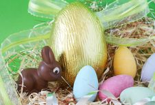 Free Colorful Wrapped Chocolate Easter Eggs Stock Photos - 4435803