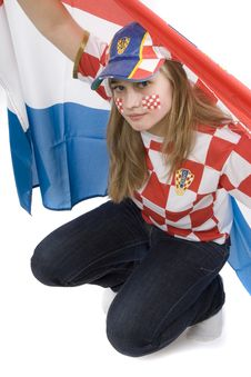 Free Croatia Fan Royalty Free Stock Photography - 4435817