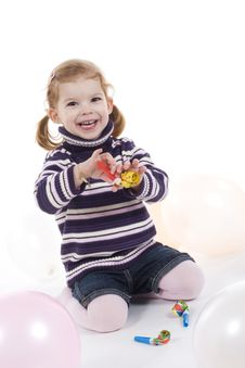 Free Cute Little Girl Stock Photography - 4436042