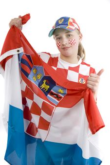Free Croatia Fan Stock Image - 4436071