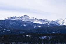 Free Winter Morning In The Rockies Stock Photos - 4436143