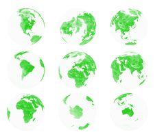 Free Earth Globe Shot 4 Royalty Free Stock Photos - 4436458