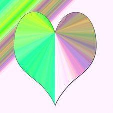 Green Pink Heart Stock Photography
