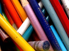 Old Coloring Pencils Royalty Free Stock Photos
