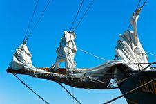 Jib Of A Sailing Ship Royalty Free Stock Images
