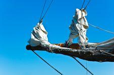 Jib Of A Sailing Ship Stock Images