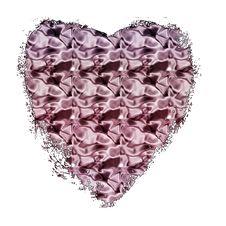 Free Pink Satin Heart Royalty Free Stock Photo - 4437935
