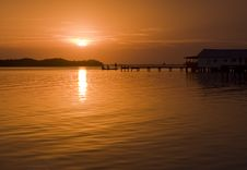 Free Sunrise In Oak Hill Florida Royalty Free Stock Photo - 4438425