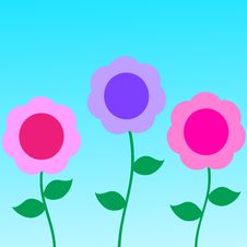 Free Abstract Flowers Background Stock Photo - 4438430