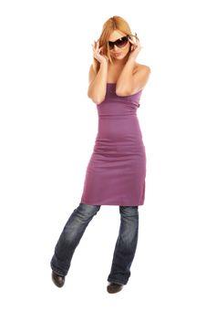 Free Glamor Girl Posing Royalty Free Stock Photos - 4438898