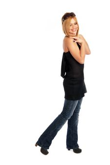 Free Glamor Girl Posing Royalty Free Stock Images - 4438919