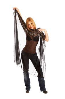Free Glamor Girl Posing Royalty Free Stock Photo - 4438945