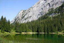 Free Lake In The Alps Royalty Free Stock Photo - 4439025