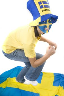 Free Sweden Fan Stock Photography - 4439232