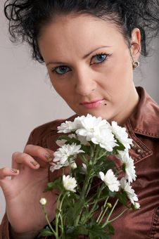 Free With White Flowers Stock Photography - 4439242