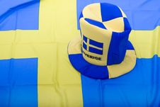 Free Sweden Fan Royalty Free Stock Photography - 4439277